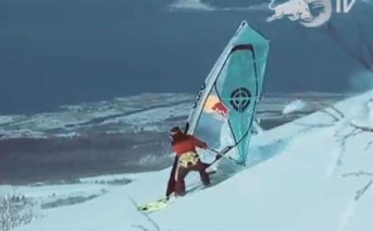 Windsurf na snegu